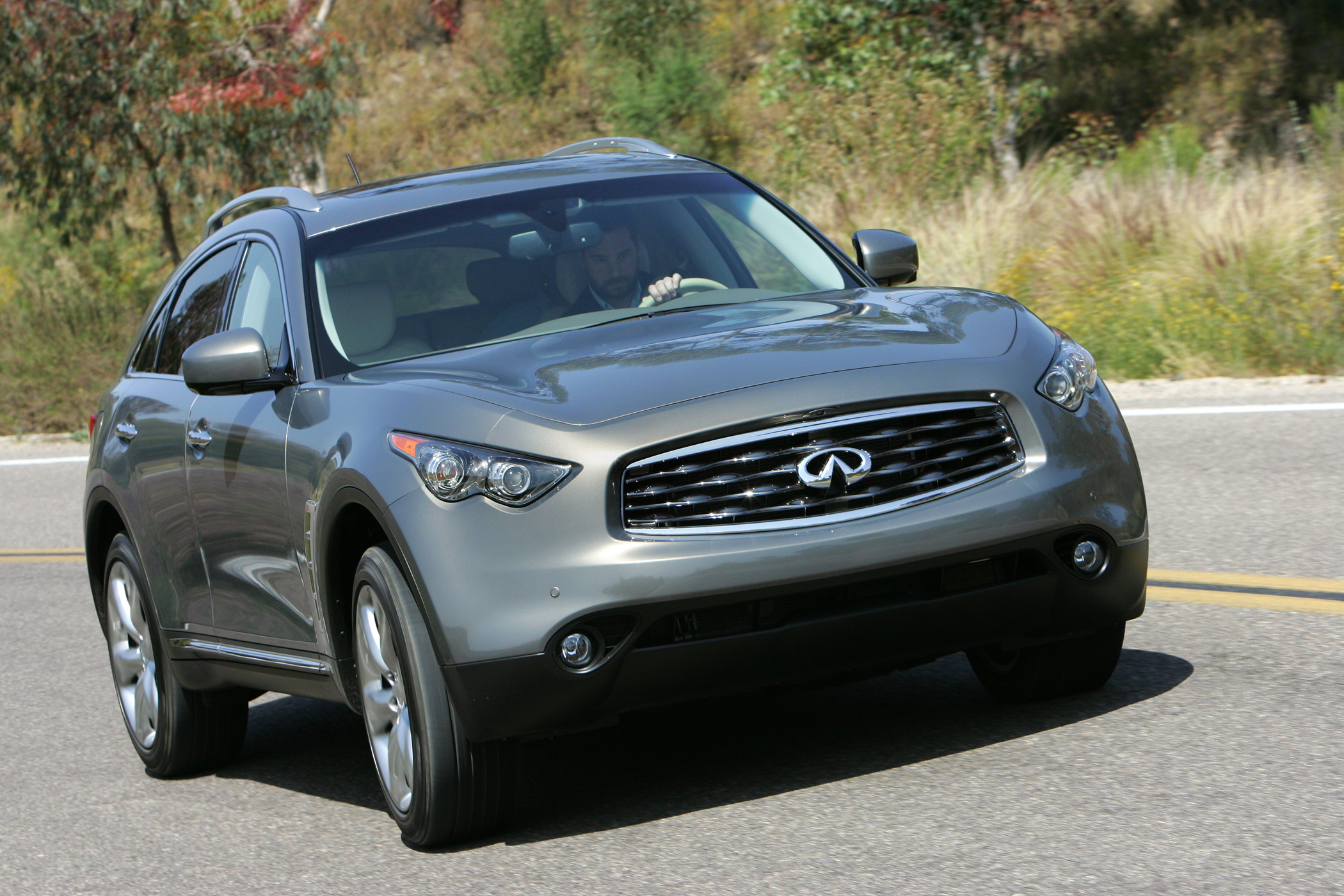 2009 infiniti fx50 a technical and performance statement new a camera watches the lane markings warning you if you stray from your lane if you dont correct your lapse it will selectively apply the brakes on the vanachro Image collections