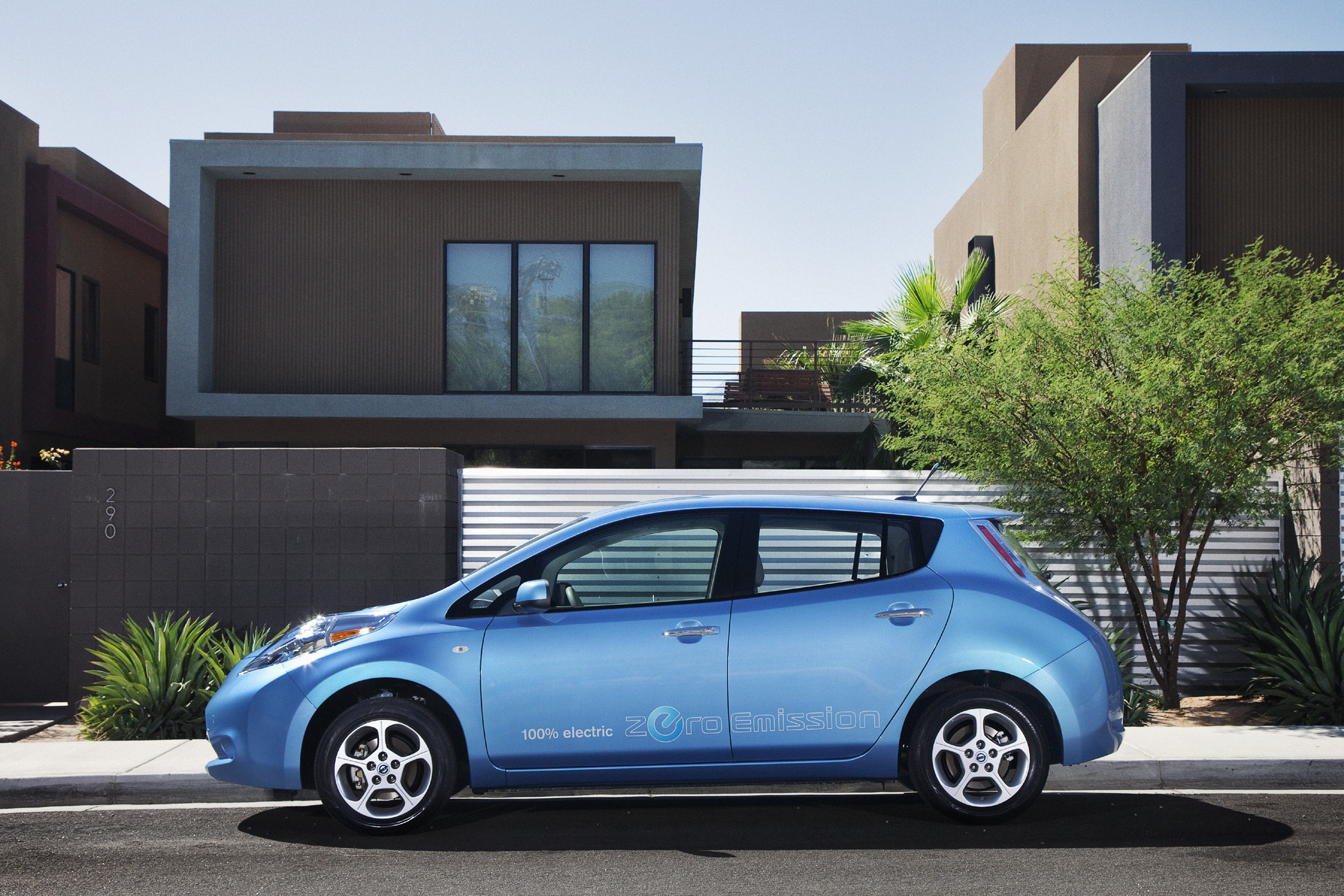 "Manufacturer photo: The 2012 Nissan Leaf continues in its second year of production to lead the drive into the ""no gas, no tailpipe"" zero-emission era"