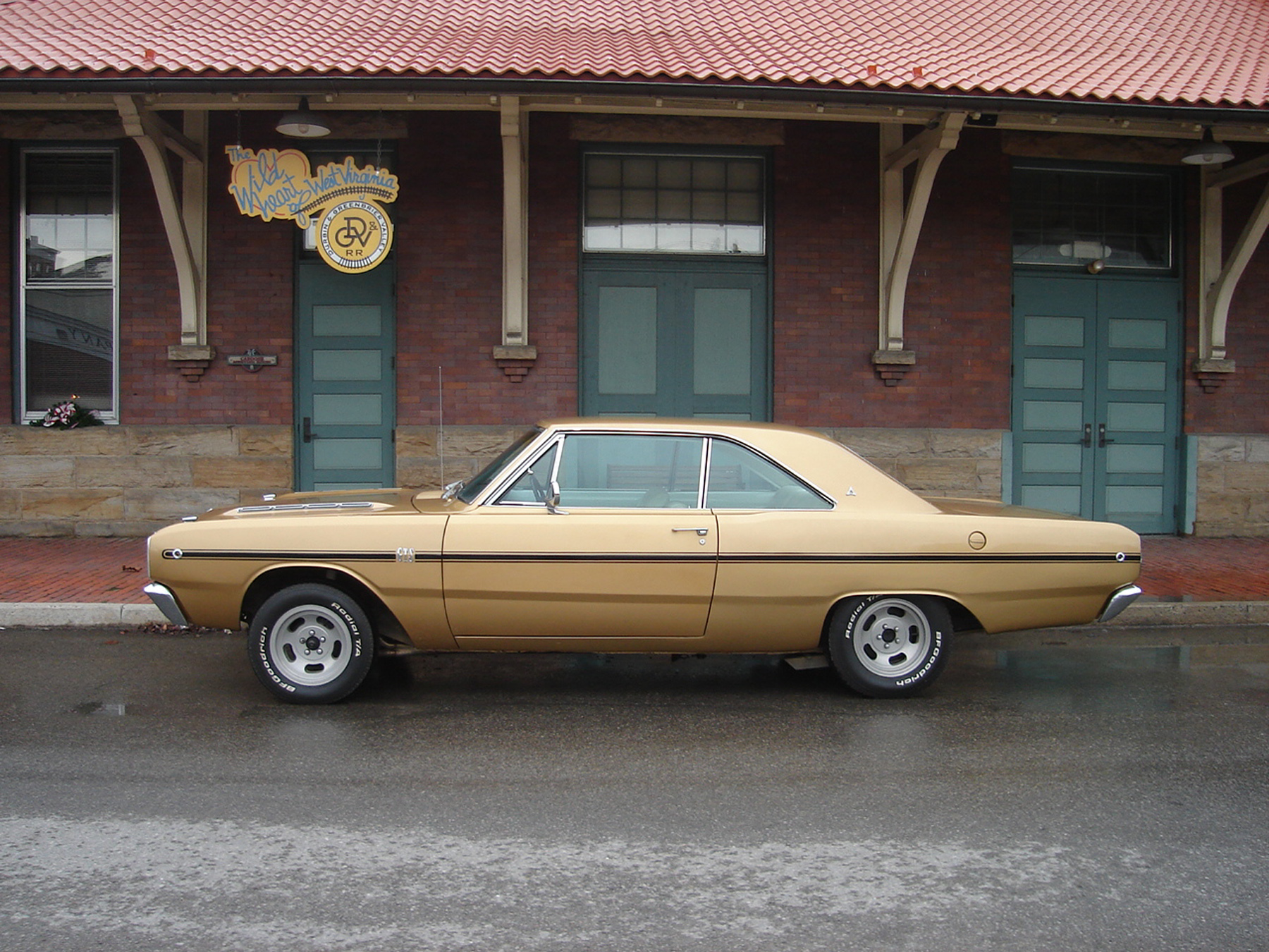 1968 Dodge Dart Gts Adventures Of In West Virginia Classic As The Reconstruction Project Progressed White Vinyl Interior Was Replaced Along With Black Carpet And Padded Dashboard