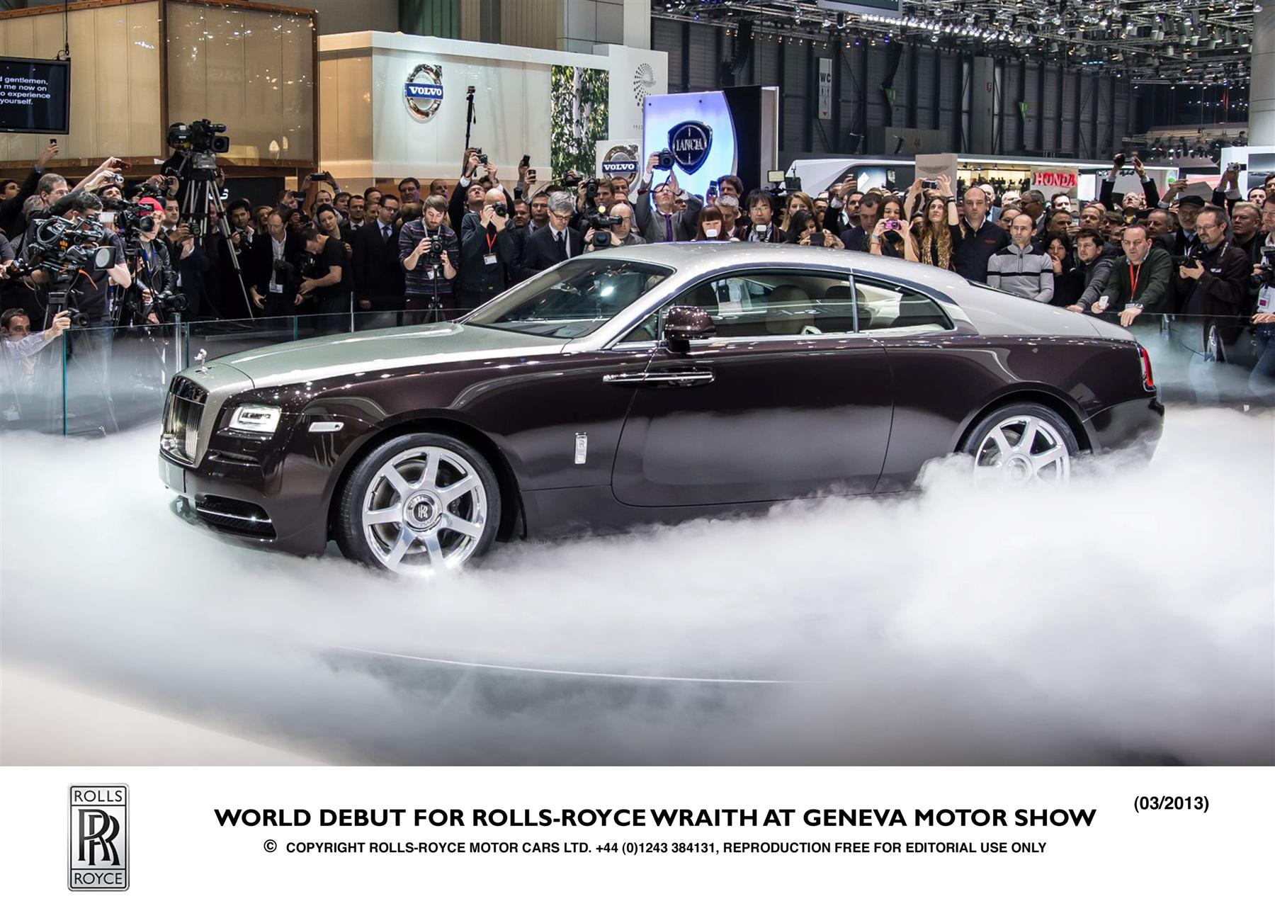 Manufacturer photo: The Rolls-Royce Wraith is the most powerful model in company history, with a 624-horsepower V-12 engine