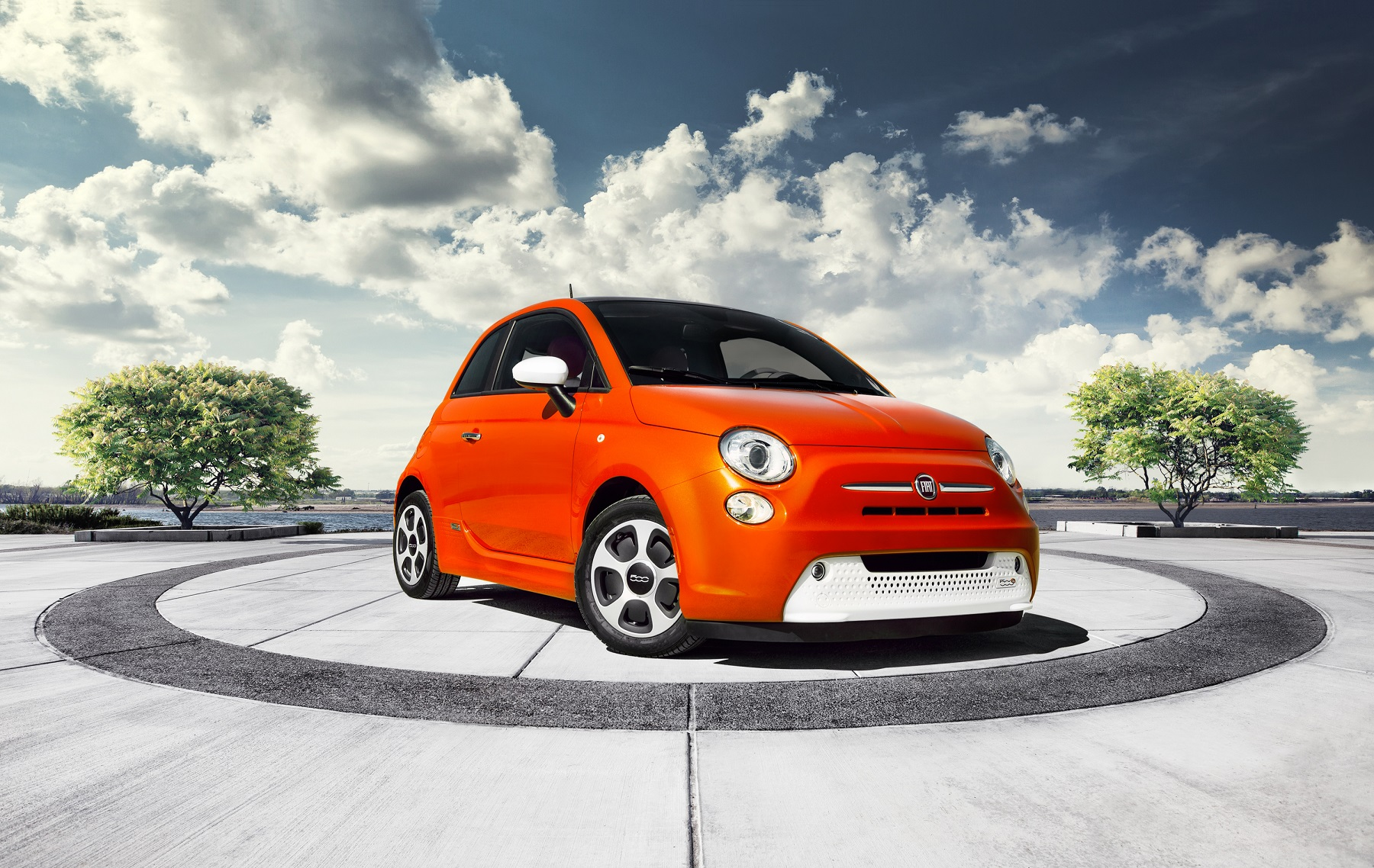 enhanced torquey tiny fiat trunk sporty test electric cool car review drive