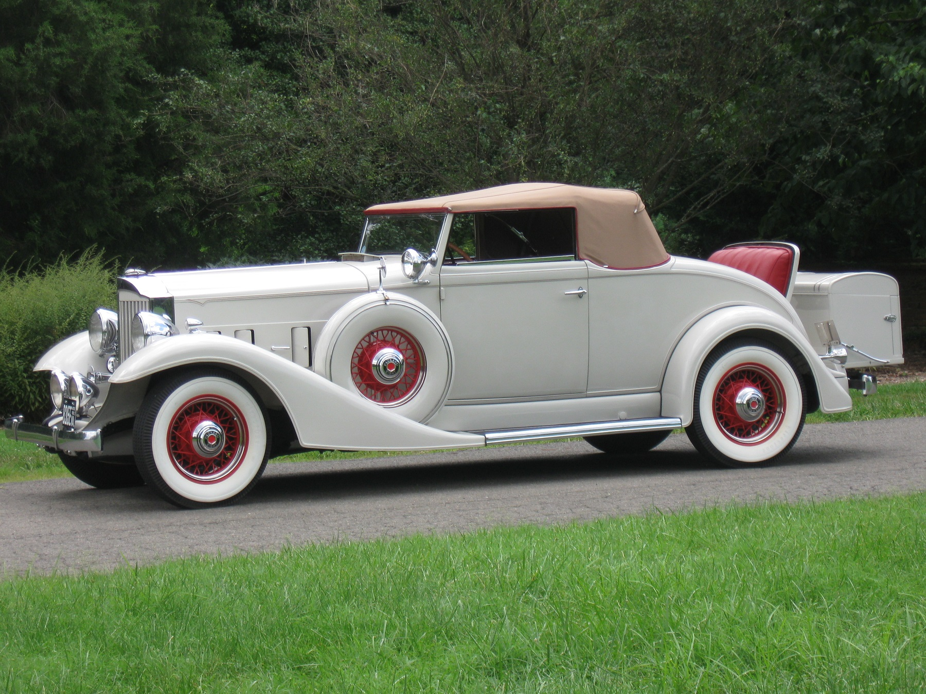 S Packard Car With Rumble Seat