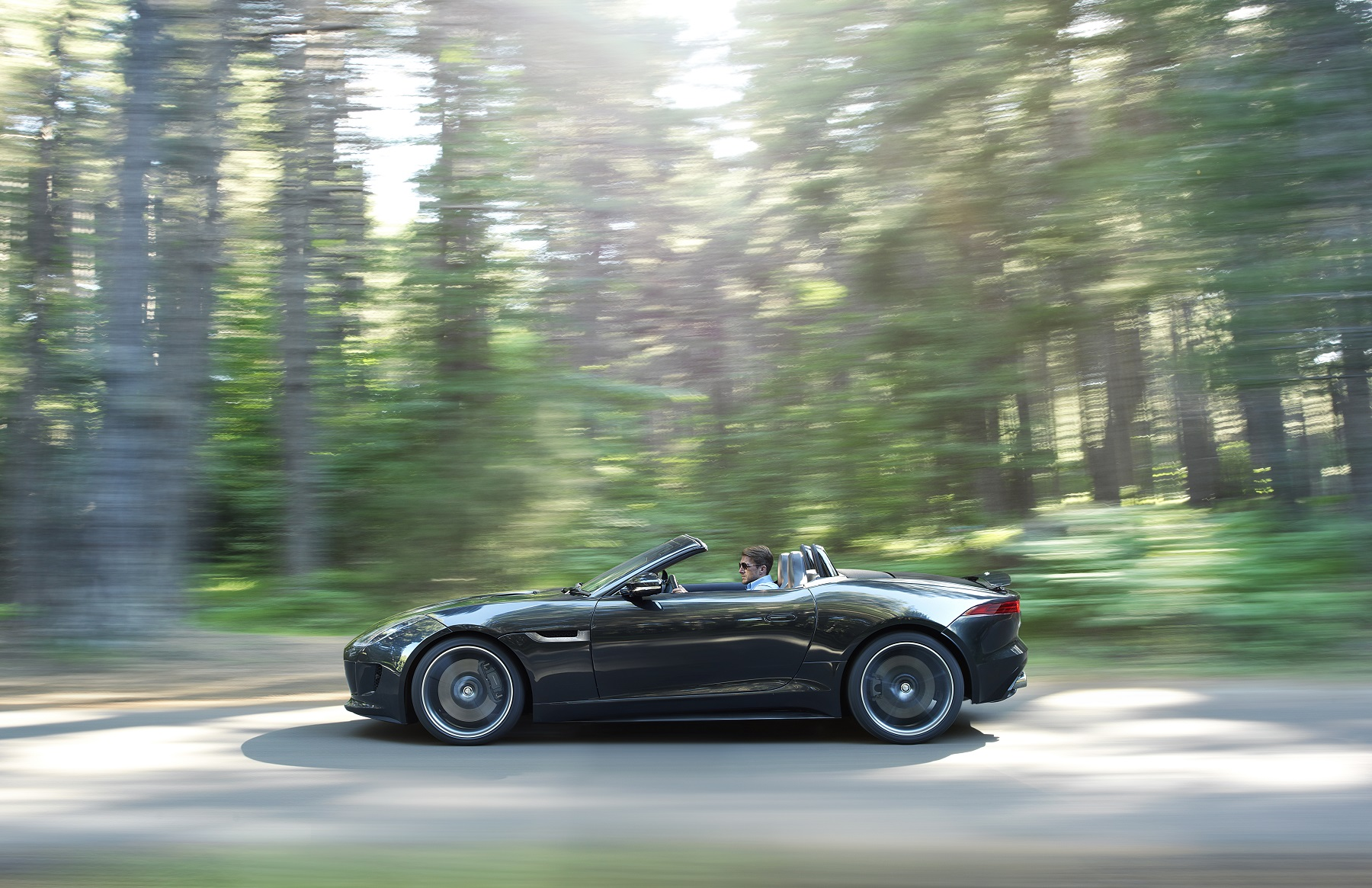 Manufacturer photo: The new 2014 Jaguar F-Type represents a return to the company's heart: a two-seat, convertible sports car focused on performance, agility and driver involvement