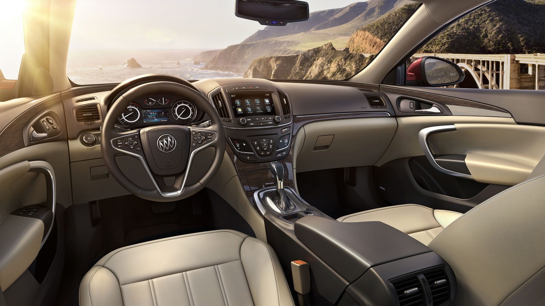 Manufacturer photo: Buick's 2014 Regal is sportier and smarter with new, purposeful technologies to enhance safety and the driving experience, such as the  more refined turbo engine -- along with the introduction of all-wheel drive