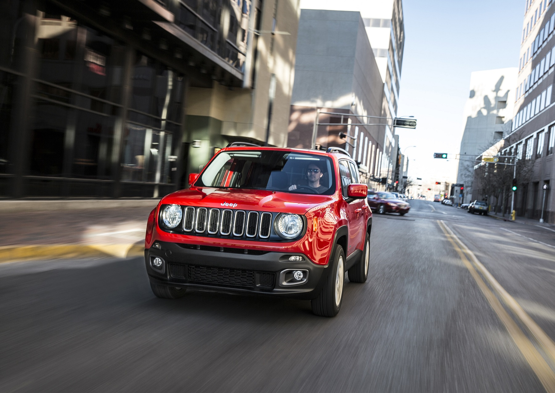 Manufacturer photo: The all-new 2015 Renegade offers the open-air freedom and iconic styling Jeep is known for in an all-new efficient, trail and urban-friendly size -- designed to take the growing global small SUV segment head-on with its beefy proportions and purposeful design elements