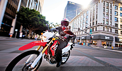 Honda's Dual-Sport Bike On and Off-Road