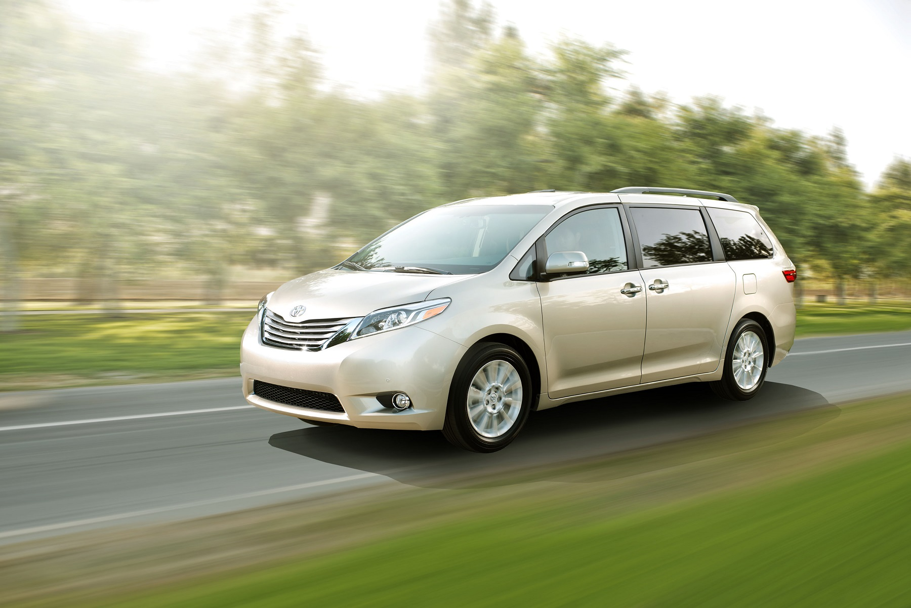 Manufacturer photo: The 2015 Toyota Sienna minivan debuts refreshed exterior styling packed with added safety, convenience and multi-media features