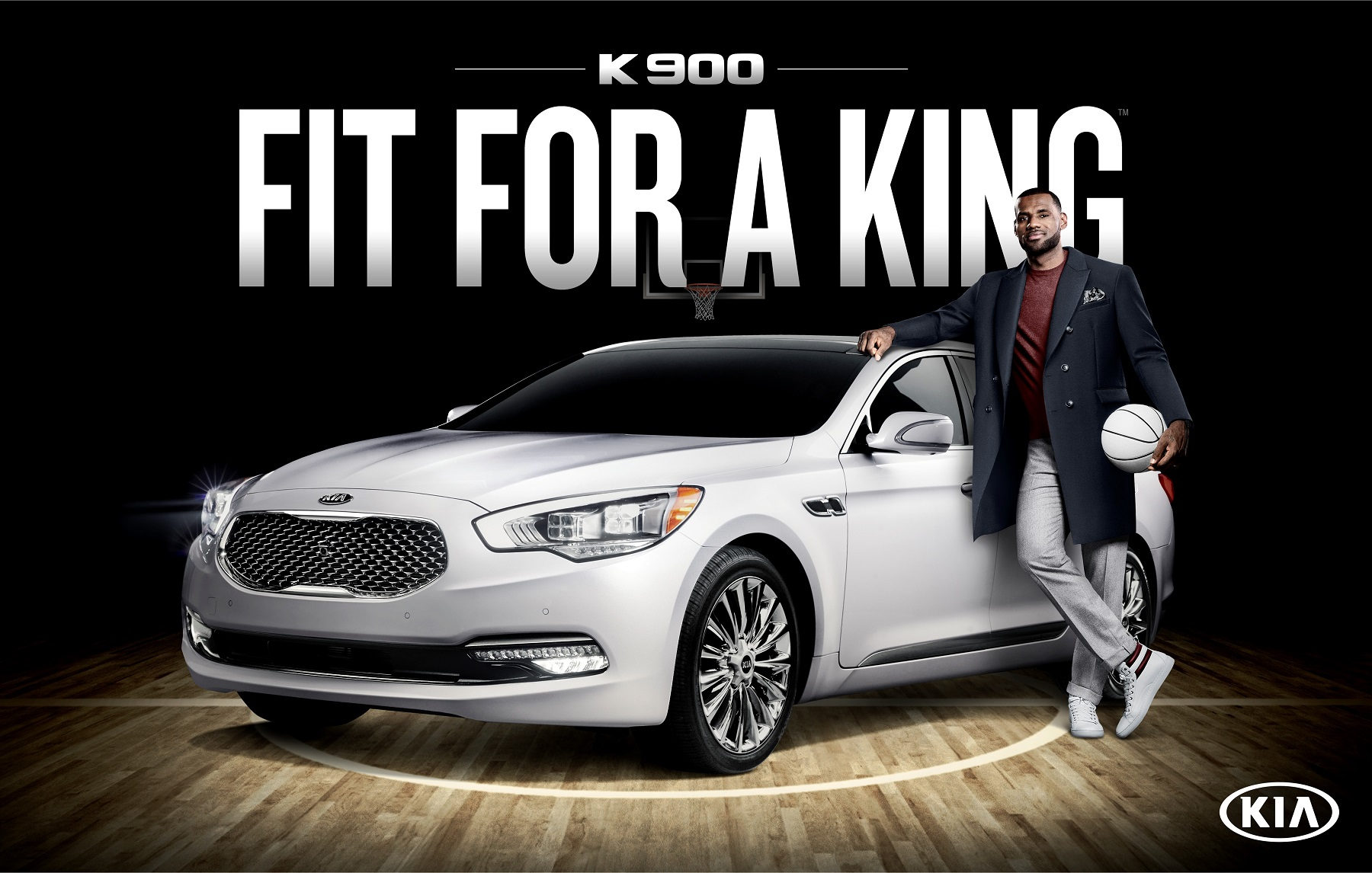 Manufacturer photo: Kia has hired celebrities as product pitchmen, including basketball legend LeBron James and actor Pierce Brosnan