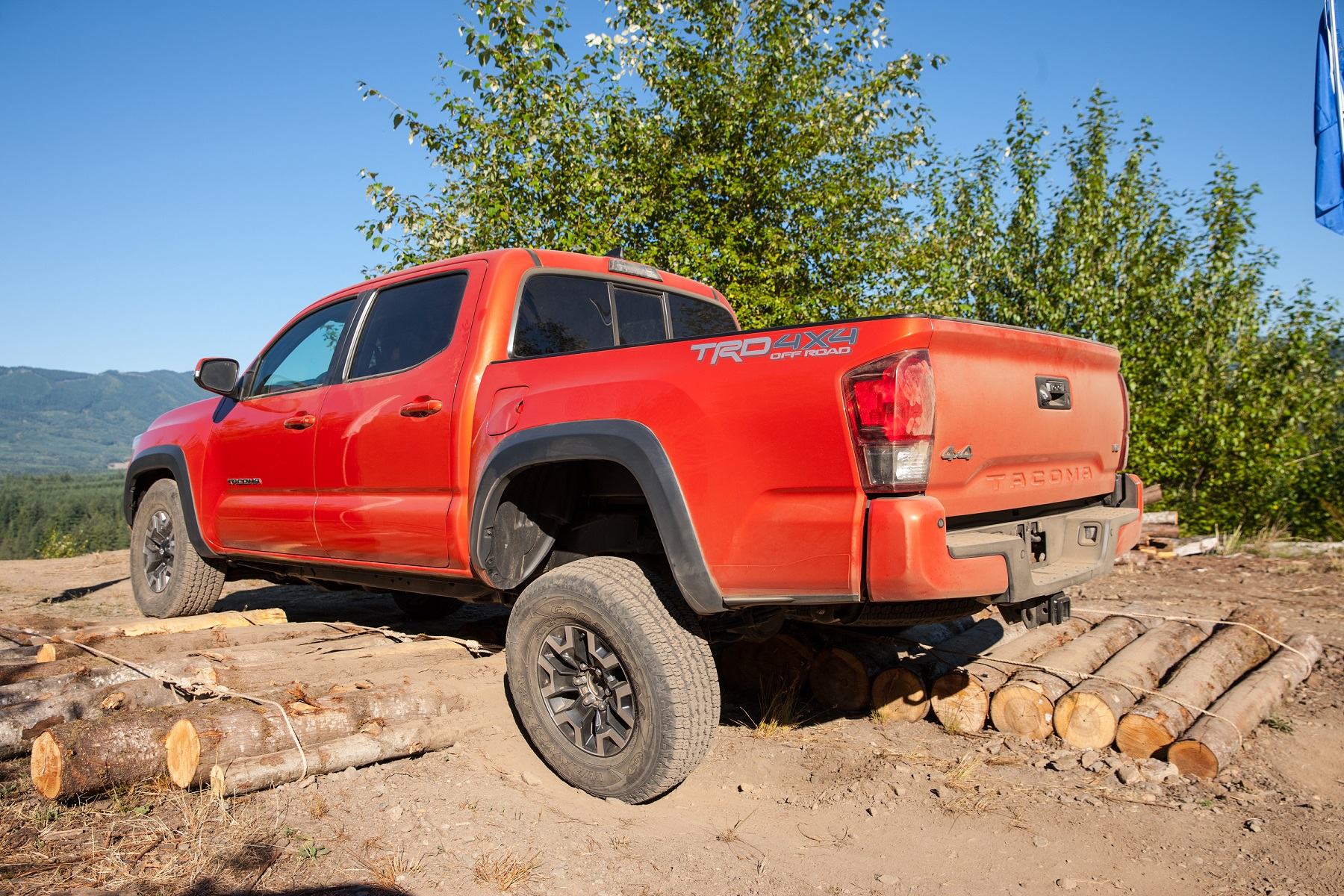 Manufacturer photo: The TRD Off-Road Double Cab Tacoma here is close to 18 feet long, with a cargo box that measures 6 feet 1-inch