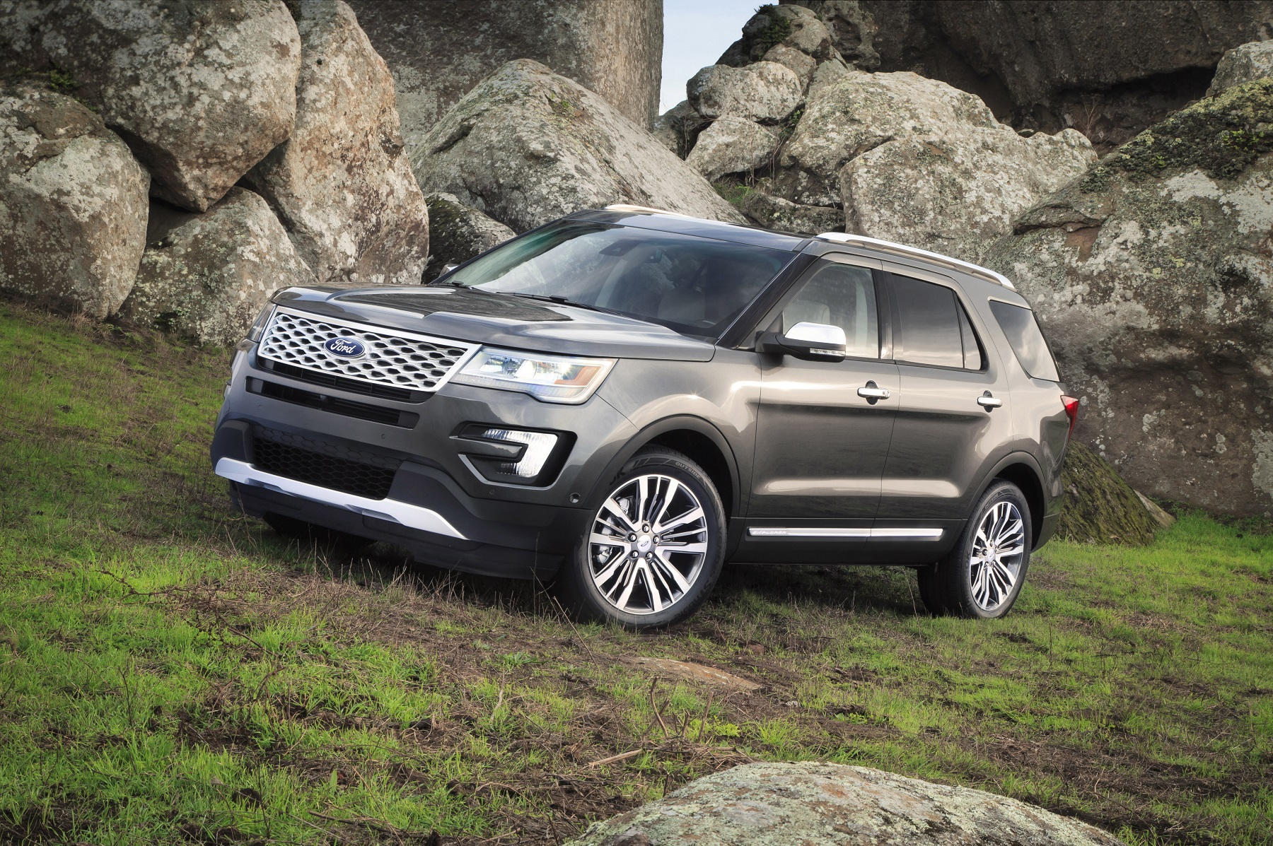 Manufacturer photo: The 2016 Ford Explorer Platinum is a luxury seven-passenger crossover sport utility vehicle designed to deliver the most premium, highest-quality interior ever offered on a Ford vehicle