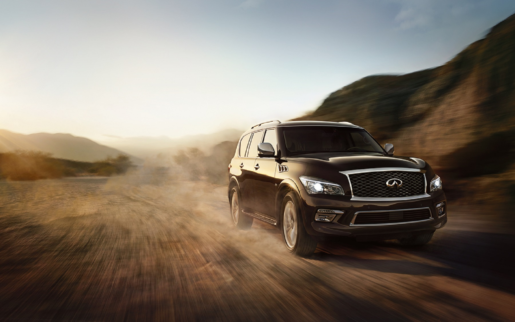 Manufacturer photo: Infiniti QX80 offers an unmatched combination of power, strength and luxury style -- capable of transporting up to eight adults and their belongings with spacious elegance