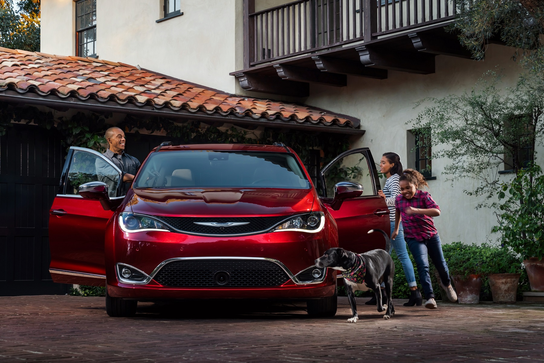 chryslers newest minivan designed with everything parents could wish for including a rear seat entertainment system with an app entitled