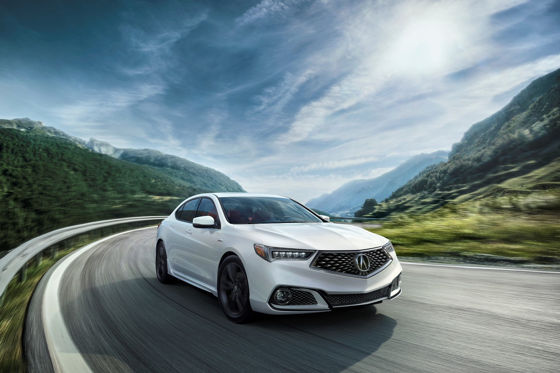 Manufacturer photo: Acura significantly refreshes its midsize TLX performance luxury sedan for 2018, offering more standard features and a sporty new A-Spec choice for V-6 models