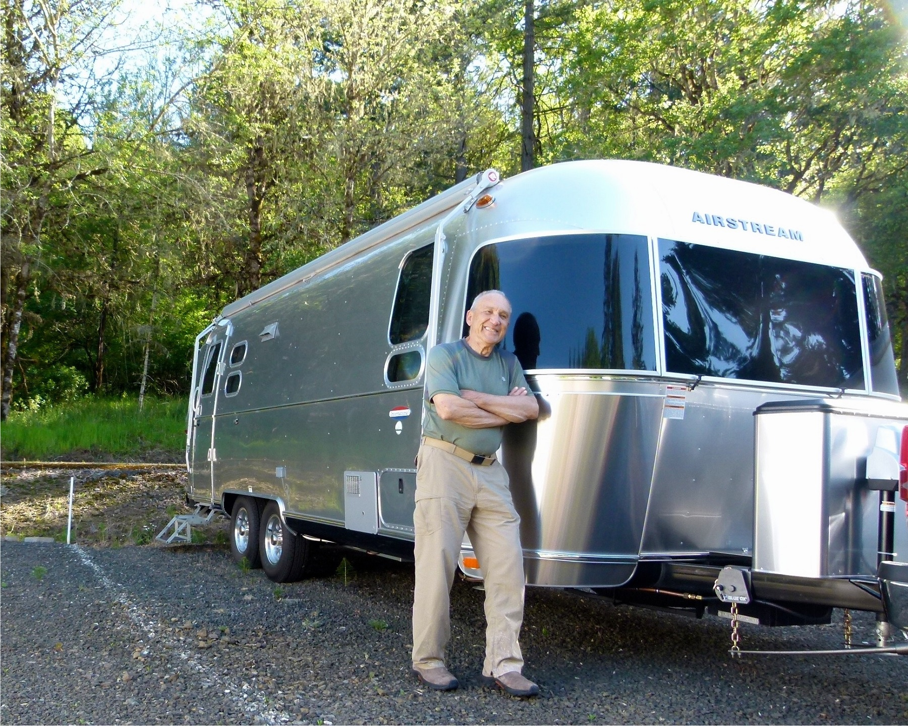 I call this my aluminum tent  says former tent c&er Carl Tipton as he runs his hands along the sleek exterior of his 2017 25-foot Airstream ... & Airstream: RV Fave and Made in USA - Rolling Homes - - GrooveCar