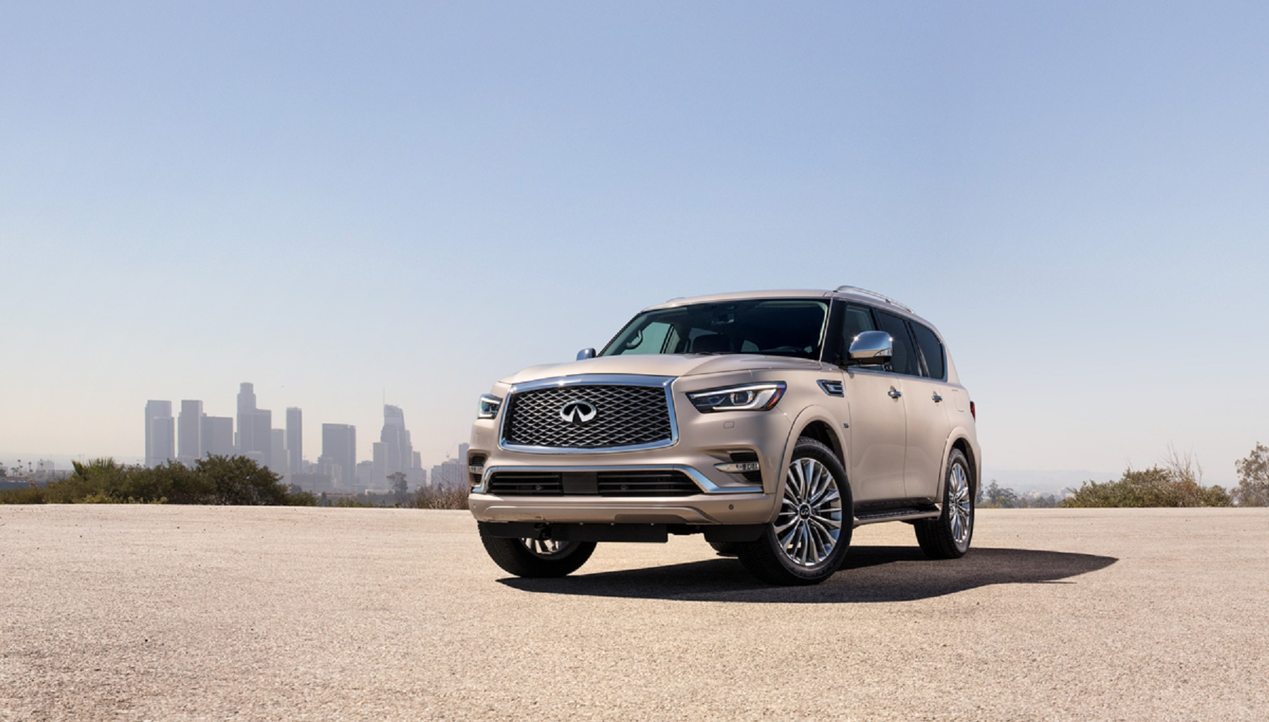 Manufacturer photo: The QX80, with its bold design and agile performance, attracts on average the youngest buyers in the full-size SUV segment