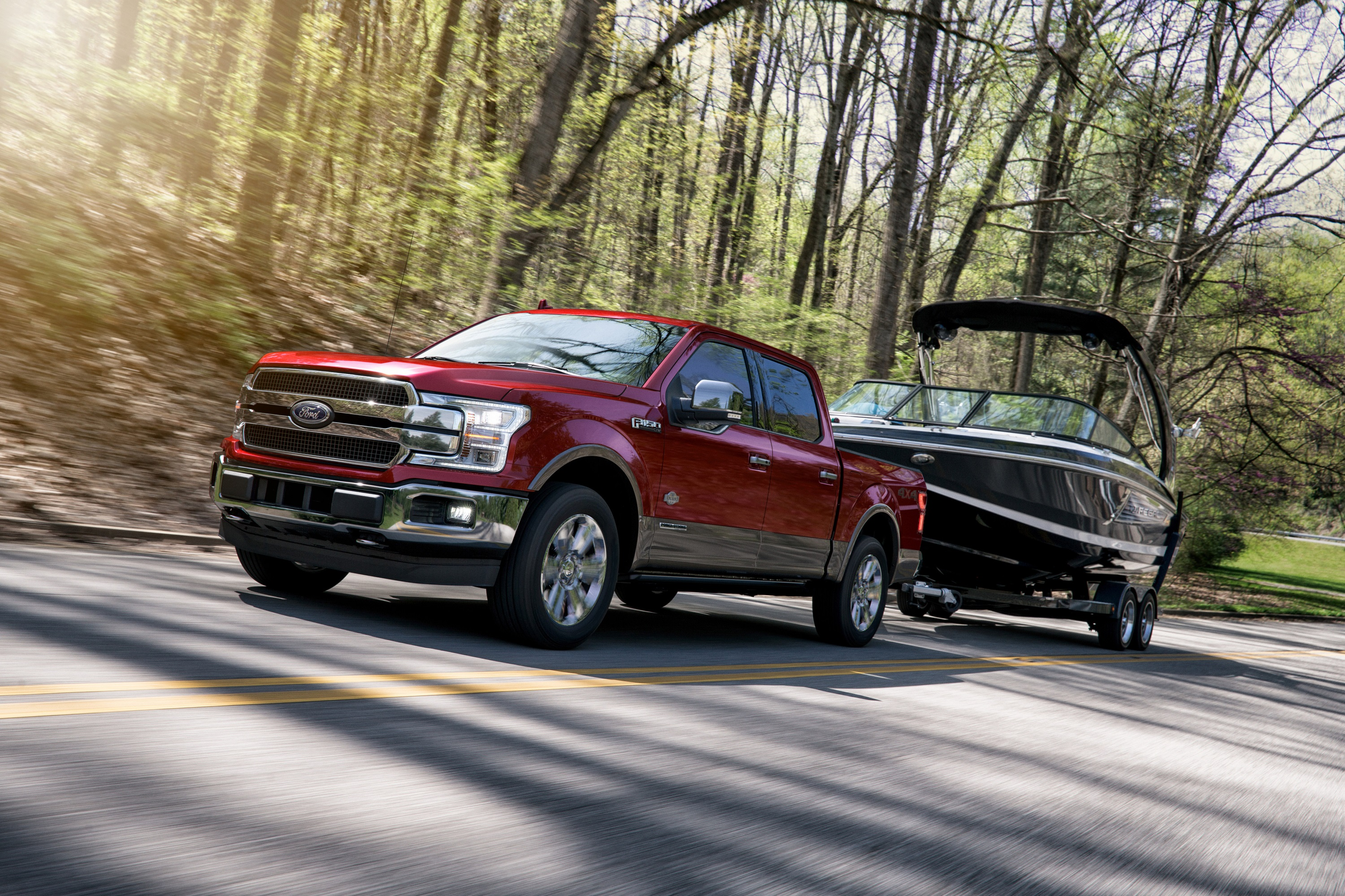 Fords   Liter V  Power Strokesel Engine Produces  Horsepower And  Lb Ft Of Torque  Pounds Of Towing Capacity And  Pounds Of