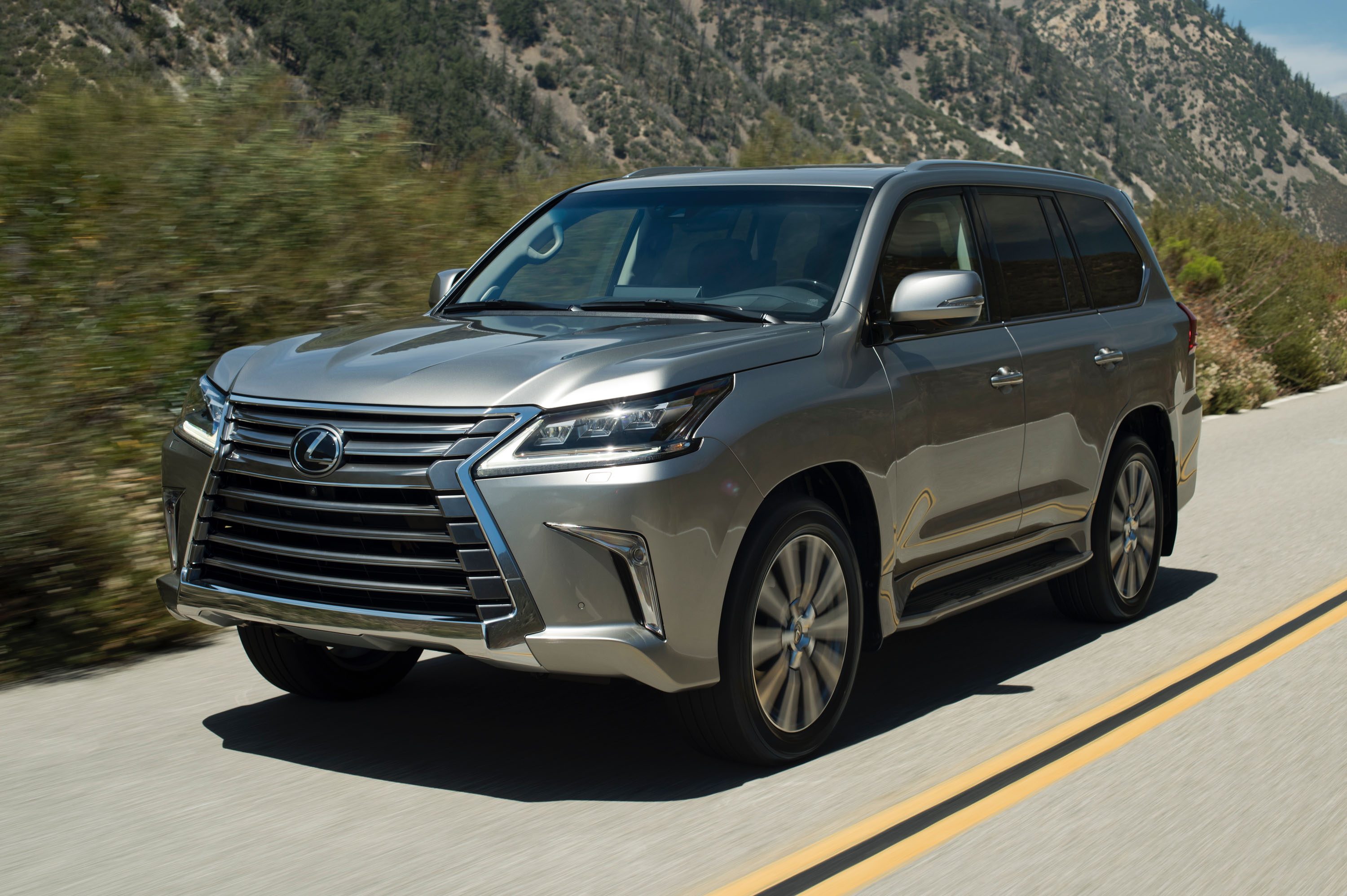 Manufacturer photo: The Lexus LX 570 conquers any type of terrain in comfort, whether on rocky country roads or rugged city streets
