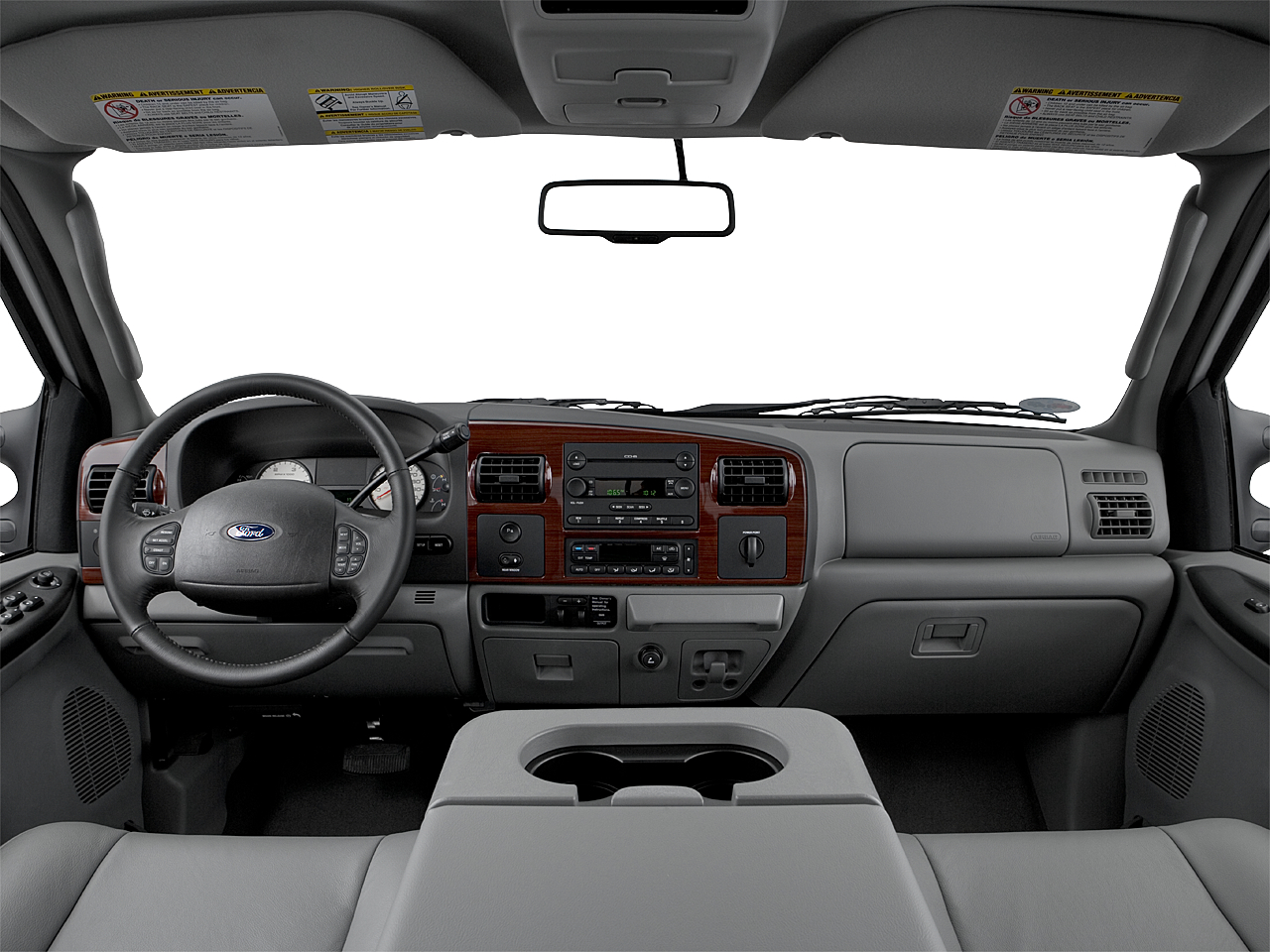 2006 Ford F-350 SD DRW Lariat, centered wide dash shot