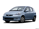 2007 Honda Fit, front angle medium view.