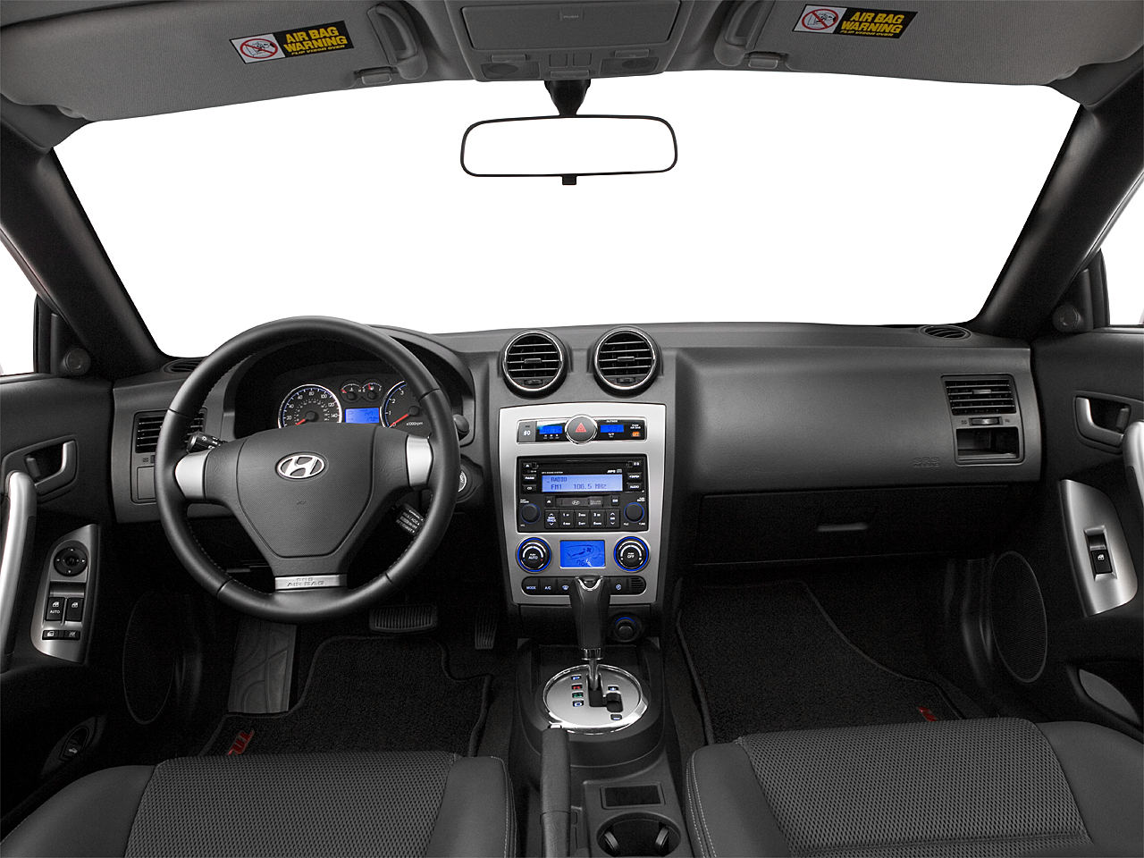 2007 Hyundai Tiburon GT, Centered Wide Dash Shot