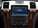 2009 Cadillac Escalade Hybrid, closeup of radio head unit