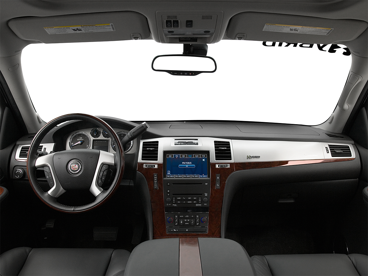 2009 Cadillac Escalade Hybrid, centered wide dash shot