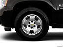 2009 Chevrolet Avalanche LS, front drivers side wheel at profile.