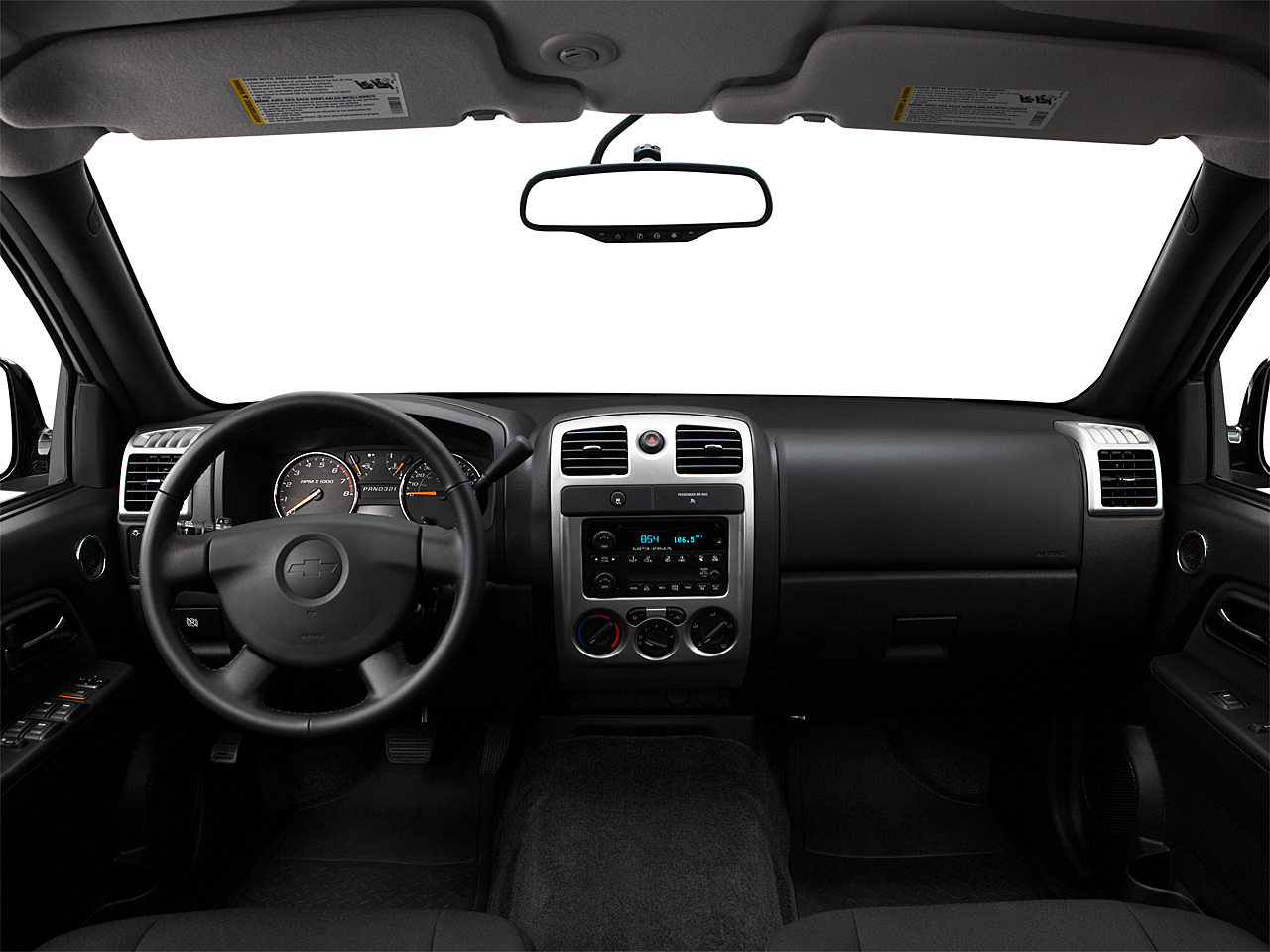 2009 Chevrolet Colorado LT, centered wide dash shot