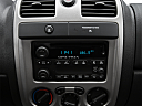2009 Chevrolet Colorado WT, closeup of radio head unit