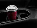 2010 Chevrolet Tahoe LTZ, third row side cup holder with coffee prop.