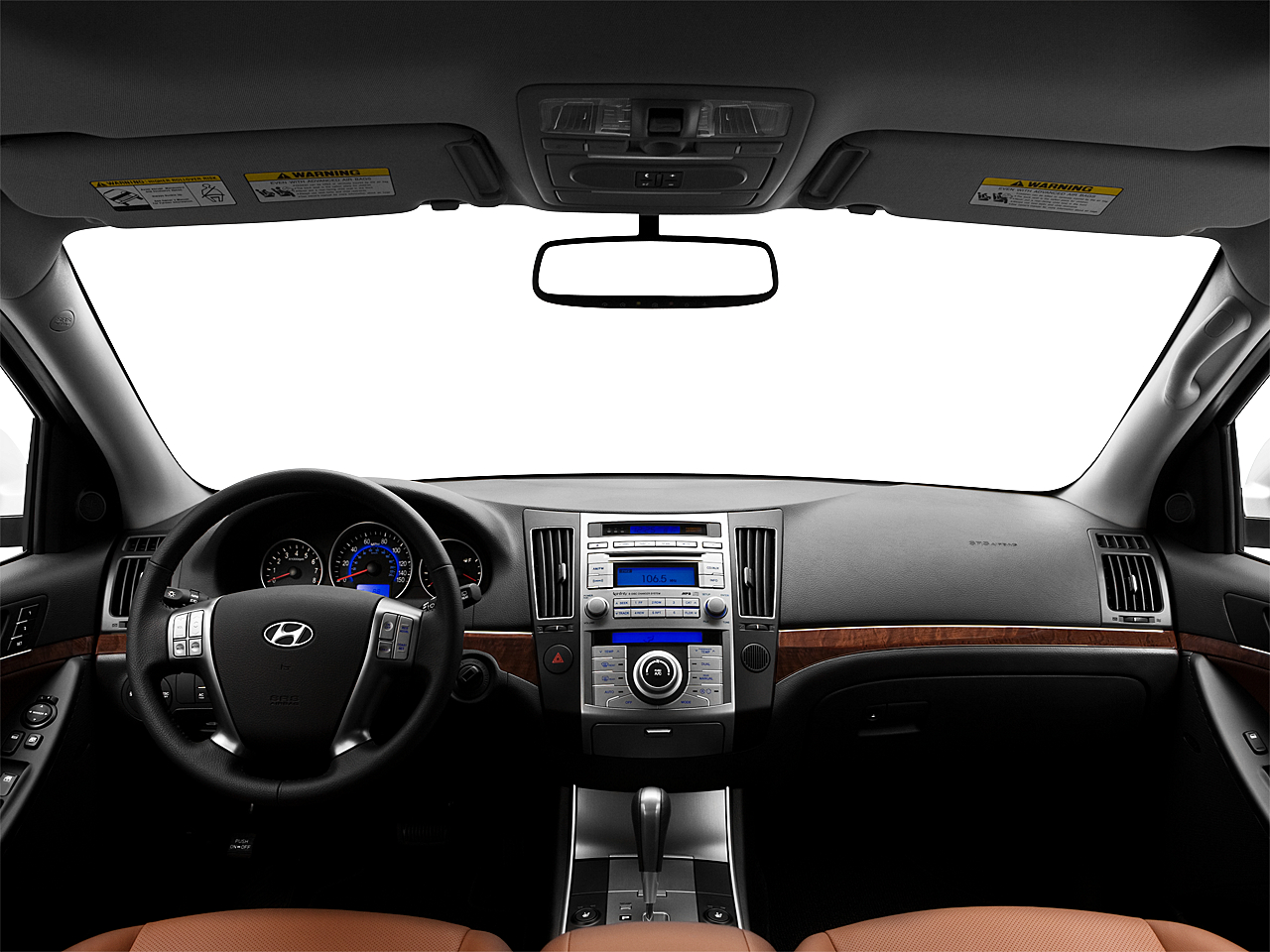 2010 hyundai veracruz limited centered wide dash shot