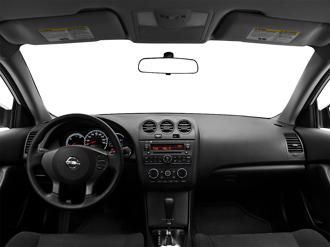 2010 Nissan Altima Hybrid Centered Wide Dash Shot