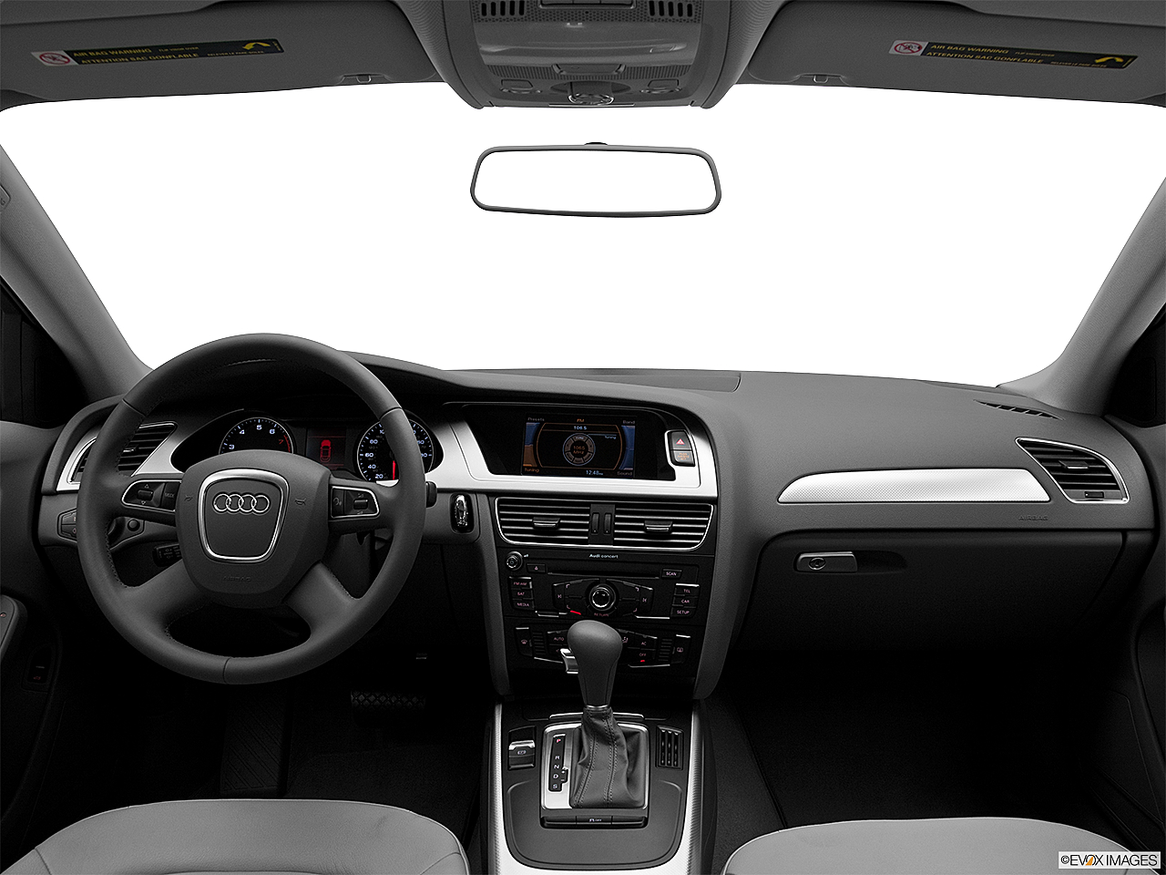 2011 Audi A4 2.0T, centered wide dash shot