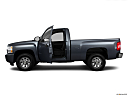 2011 Chevrolet Silverado 1500 WT, driver's side profile with drivers side door open.