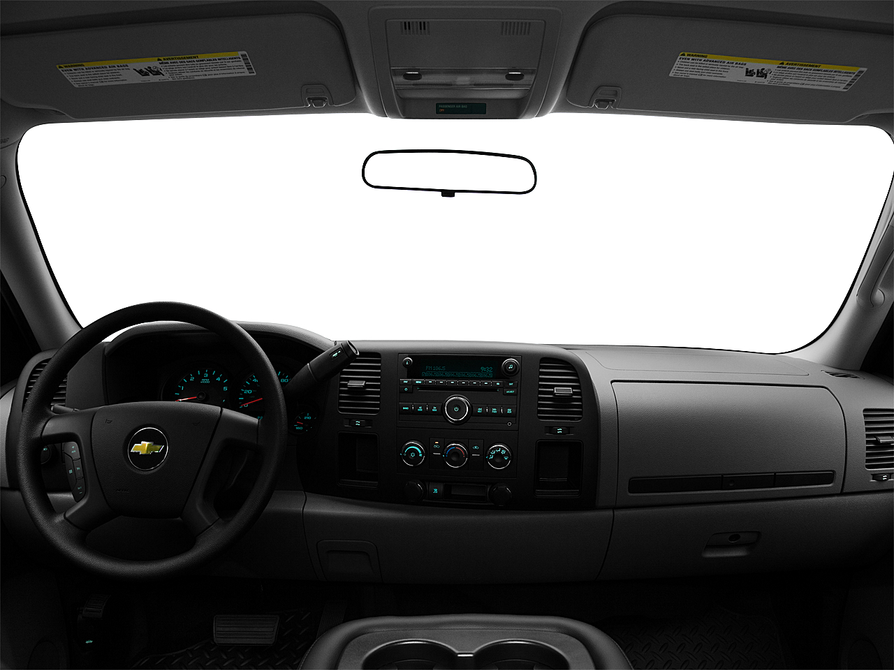 2011 Chevrolet Silverado 1500 WT, centered wide dash shot