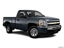 2011 Chevrolet Silverado 1500 WT, front passenger 3/4 w/ wheels turned.