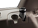 2011 Ford Expedition XLT, third row side cup holder with coffee prop.
