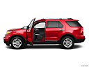 2011 Ford Explorer XLT, driver's side profile with drivers side door open.