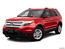 2011 Ford Explorer XLT, front angle medium view.