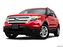 2011 Ford Explorer XLT, front angle view, low wide perspective.