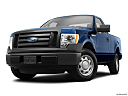2011 Ford F-150 XL, front angle view, low wide perspective.