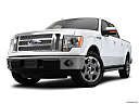 2011 Ford F-150 Lariat, front angle view, low wide perspective.