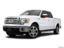 2011 Ford F-150 Lariat, front angle medium view.
