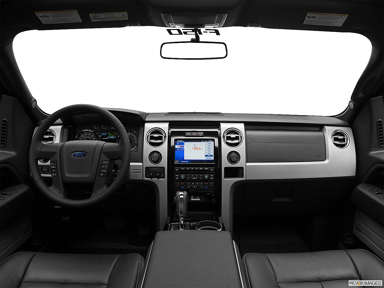 2011 Ford F-150 FX4, centered wide dash shot