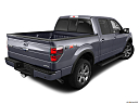 2011 Ford F-150 FX4, rear 3/4 angle view.