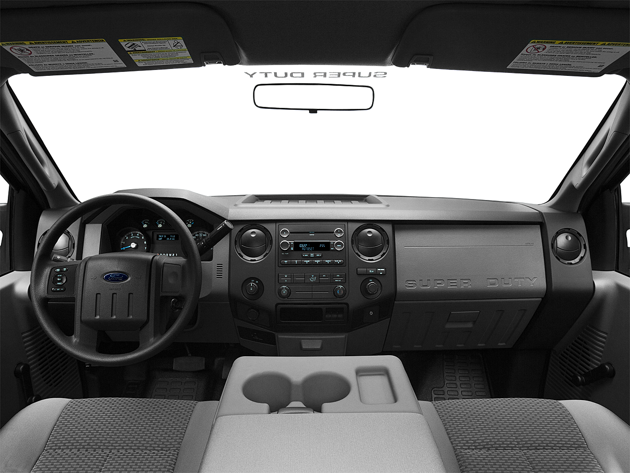 2011 Ford F-250 SD XL, centered wide dash shot