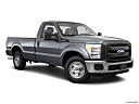 2011 Ford F-250 SD XL, front passenger 3/4 w/ wheels turned.