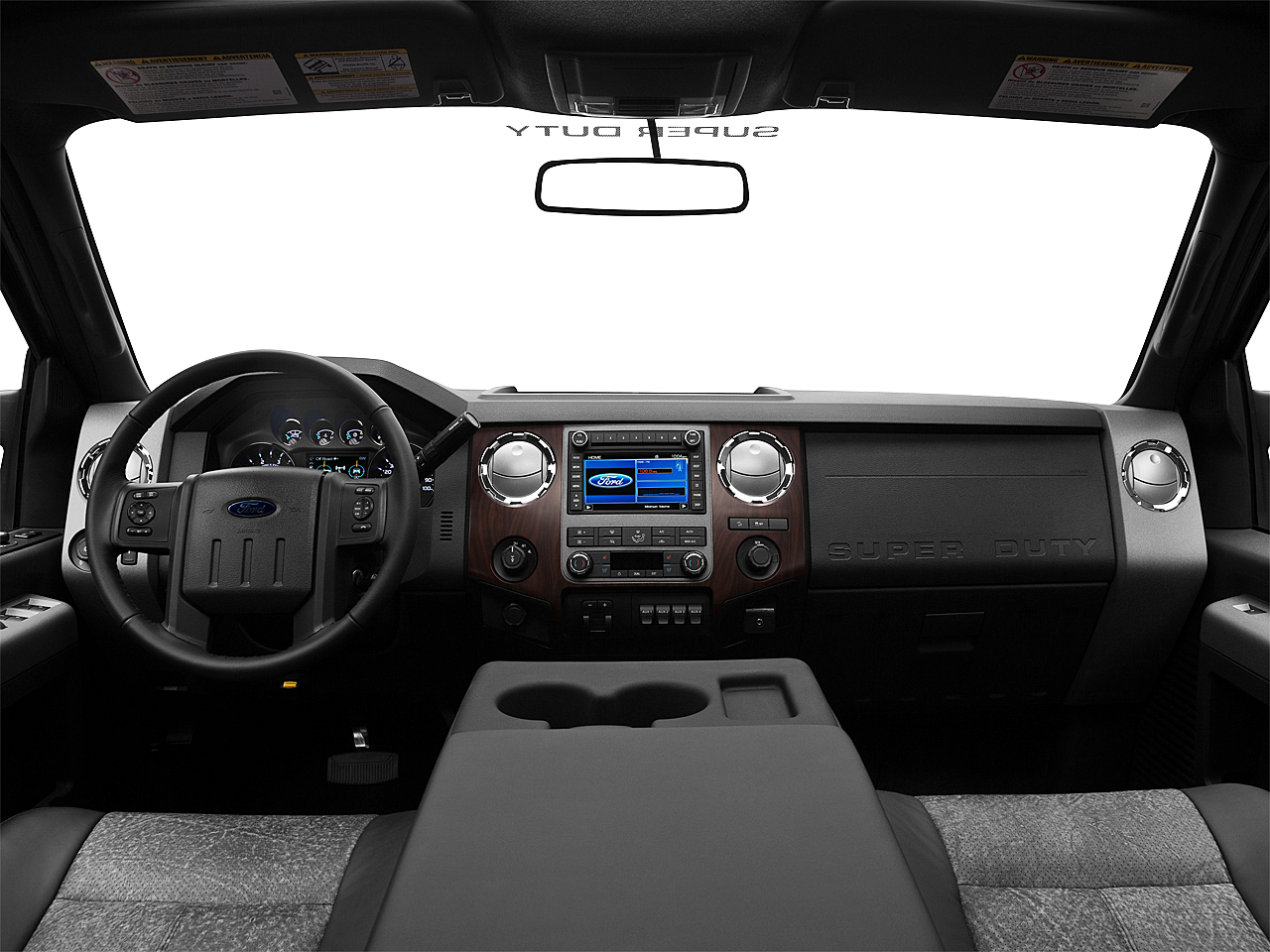 2011 Ford F-250 SD Lariat, centered wide dash shot