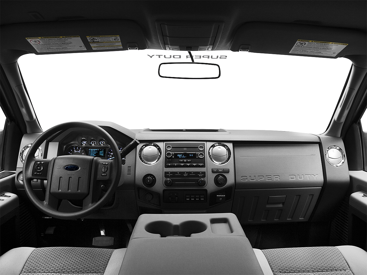 2011 Ford F-250 SD XLT, centered wide dash shot