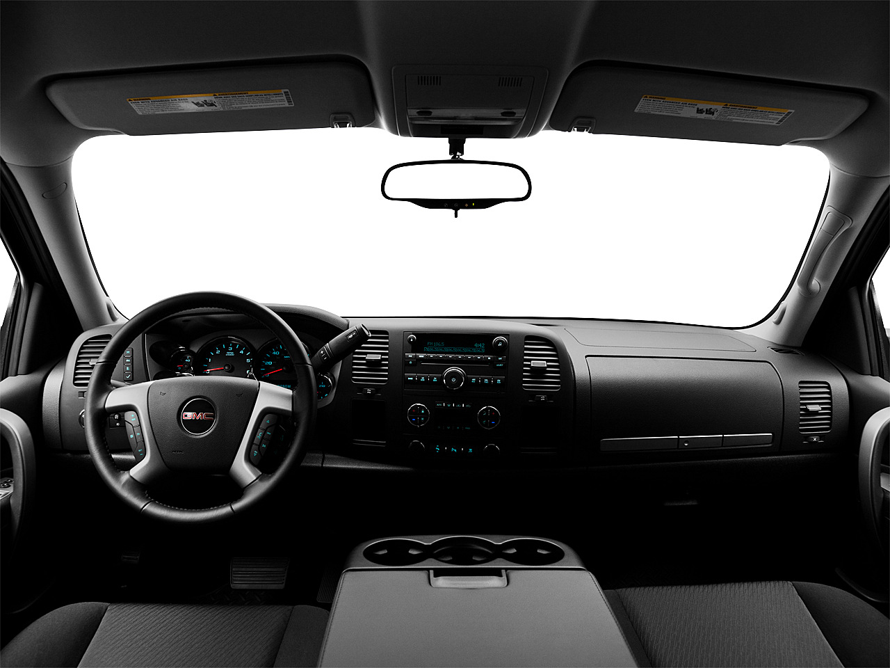 2011 GMC Sierra 1500 SLE, centered wide dash shot